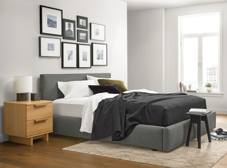 Wyatt queen storage bed in apartment bedroom