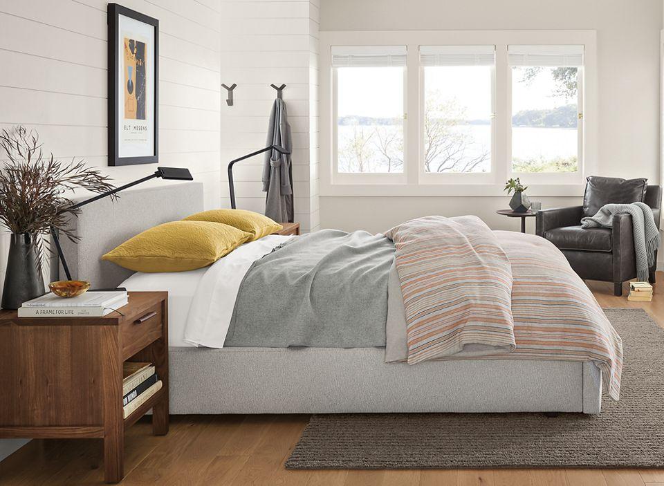 Wyatt queen storage bed in coastal bedroom