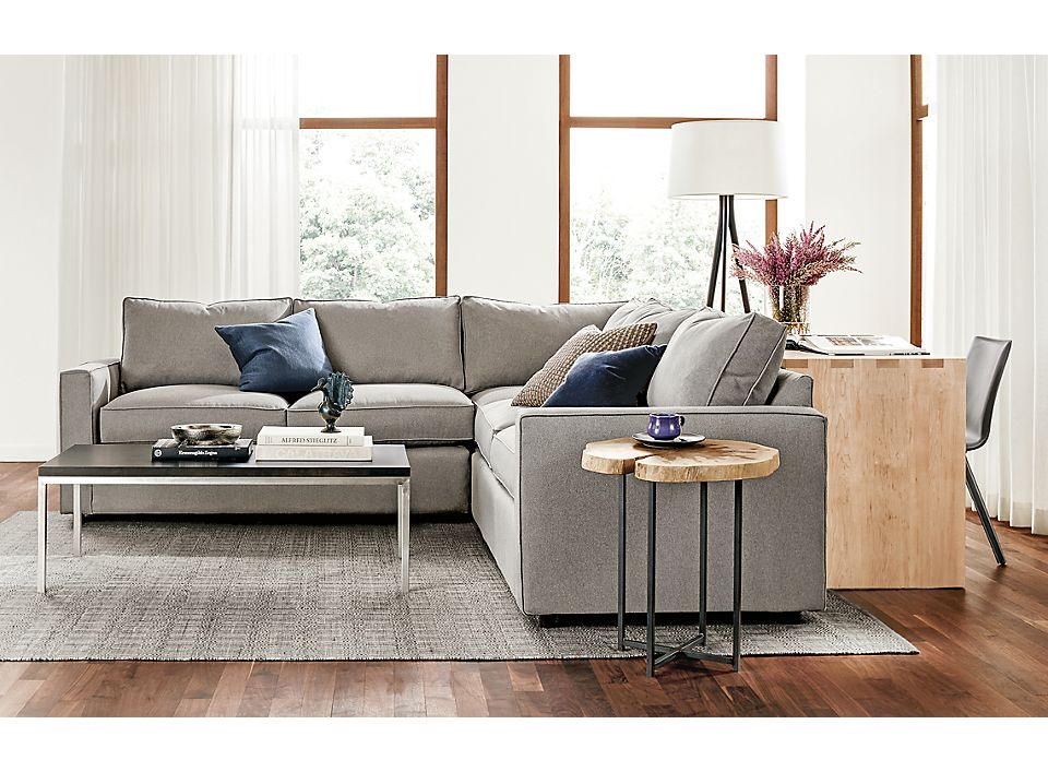 Detail of 103 inch York three-piece sectional