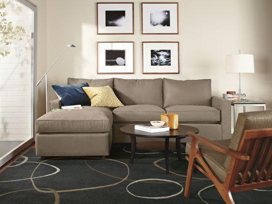 York Sectional   Modern Sectionals   Modern Living Room Furniture   Room U0026  Board