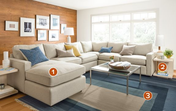 Living Room York york sectional with chaise - modern living room furniture - room