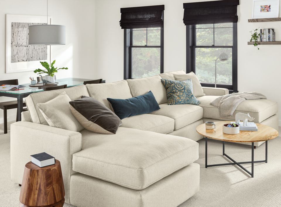 Detail of York three-piece U sectional