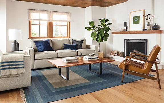 York Three-seat Sofa in Sumner Linen