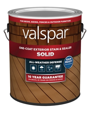 Valspar One-Coat Solid Exterior Sealer, 1 Gallon Can