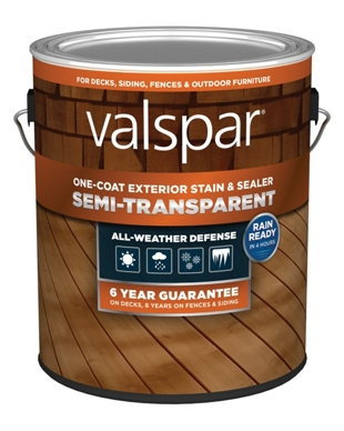 Valspar One-Coat Semi-Transparent Exterior Sealer, 1 Gallon Can