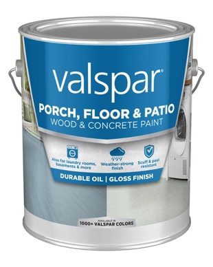 Valspar Porch, Floor, Patio Oil Gloss,1 Gallon Can