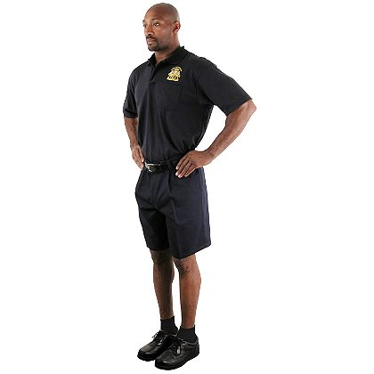 LION StationWear Pleated Shorts, Navy