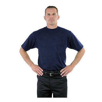 LION StationWear Station S/S Crew Neck 100% Cotton Pocket T-Shirt