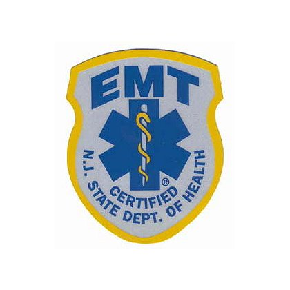 New Jersey State Emergency Medical Technician Reflective Decal