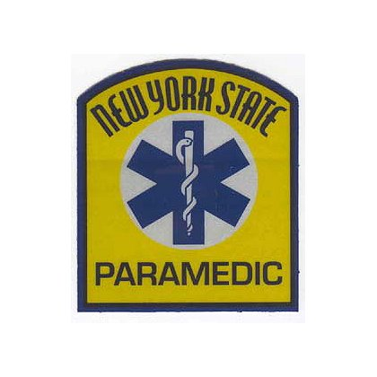 New York State Paramedic Reflective Decal
