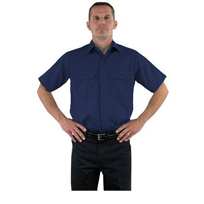 LION StationWear Brigade Short Sleeve Uniform Shirt, NOMEX IIIA, Navy