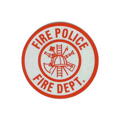 Fire Police Reflective Decal, 3