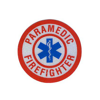 Paramedic Firefighter Reflective Decal 1-3/4