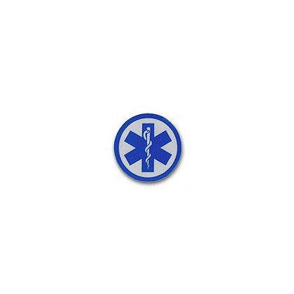 Star Of Life Reflective Decal 1-3/4