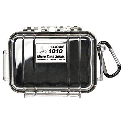 Pelican Micro Case, Model 1010, Black w/Clear Case