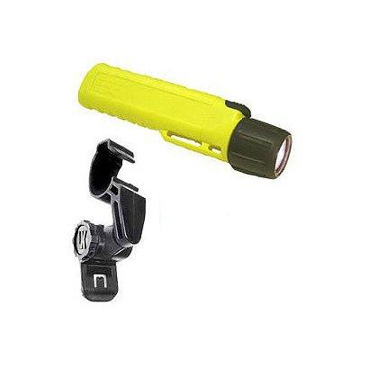 Underwater Kinetics 4AA Class 1 Div 2 Xenon Flashlight and Universal Helmet Clip Combo