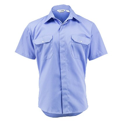 lion stationwear brigade short sleeve uniform shirt poly cotton