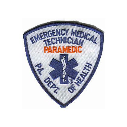 PA State Paramedic Embroidered Patch