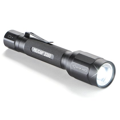 Pelican 2380 LED Flashlight, 2 AA Batteries, 159 Lumens, 6.44