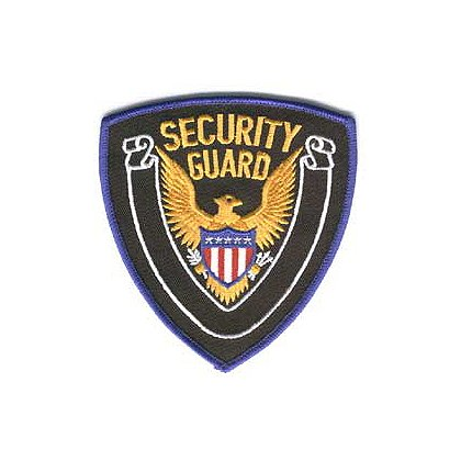 Embroidered Patch, Security Guard