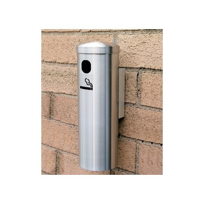 Glaro Cigarette Wall Receptacle, Side Opening, Aluminum