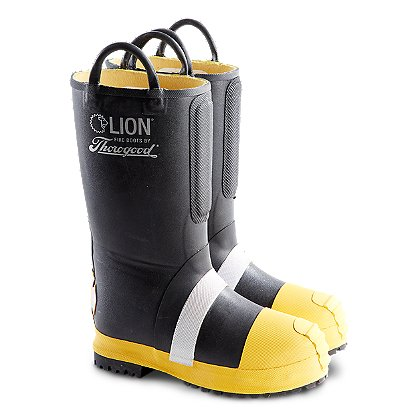 LION by Thorogood Women's Rubber Insulated Firefighting Boot with Lug Sole, NFPA
