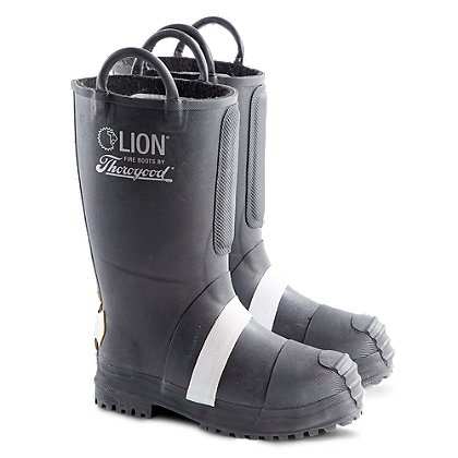 LION by Thorogood Women's Rubber Insulated Felt Fire Boot With Lug Sole, NFPA
