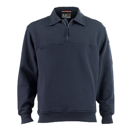 5.11 Tactical 1/4 Zip Job Shirt w/ Canvas Collars & Elbows