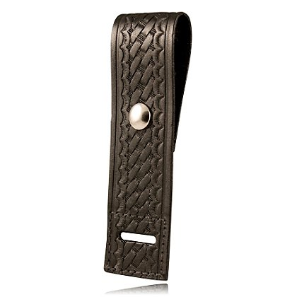 Boston Leather Basketweave Epaulet Shoulder Mic Holder w/ Reinforced Slot