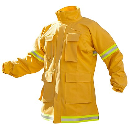PGI Fireline Turnout Gear FireLine Wildland Coat, Yellow Indura Ultra Soft