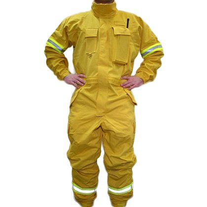 PGI Fireline Turnout Gear FireLine Wildland Jumpsuit, Yellow Indura Ultra Soft
