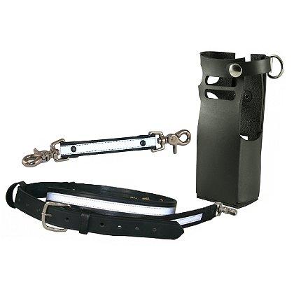 Boston Leather FDNY Style Leather Radio Strap Kit w/ Reflective Trim for Motorola APEX 7000EX