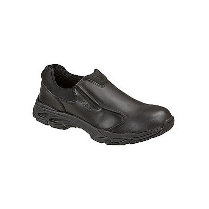 Thorogood ASR Black Leather Slip-On Shoe with Safety Toe