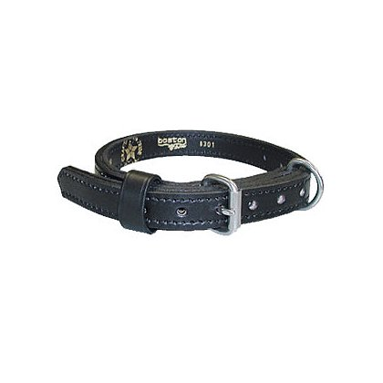Boston Leather Police K-9 Single Ply Leather Collar