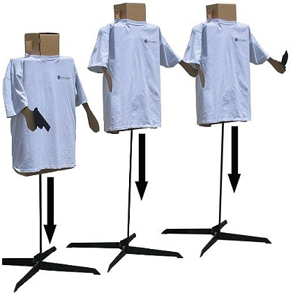 Action Target 3D Practice Target Stands, Set of (3) for 3D Targets
