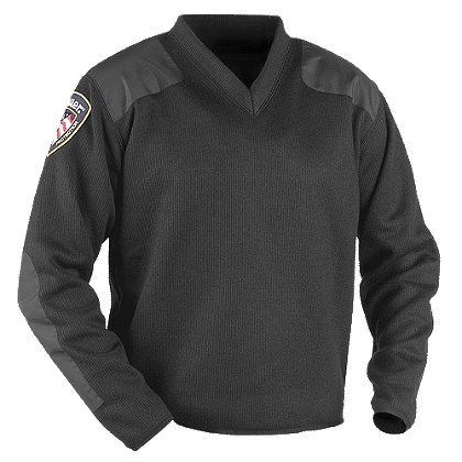Blauer 225 Fleece-Lined V-Neck Commando Sweater