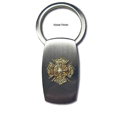 Blackinton Key Ring with Raised Maltese Cross Emblem