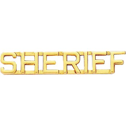 Blackinton Sheriff Letter Combination Pin