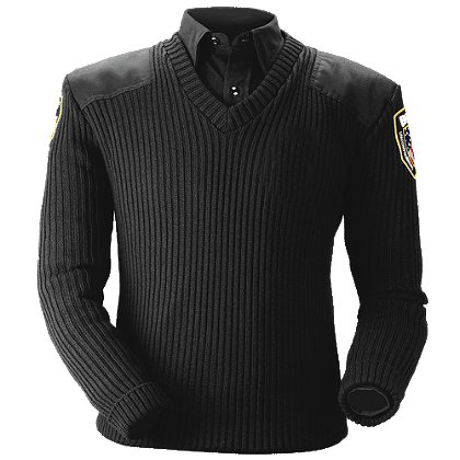 Blauer 210 Classic V-Neck Commando Sweater, with Performance Options