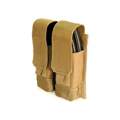Blackhawk S.T.R.I.K.E./MOLLE Double AK-47 Mag Pouch, Holds 4 Mags