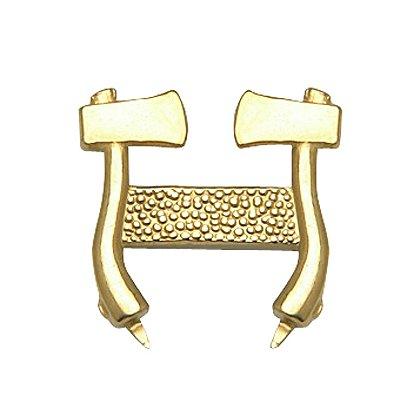 Collar Pin Gold Standing Axes
