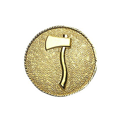 Collar Insignia 1 Axe Facing Left, Gold Finish