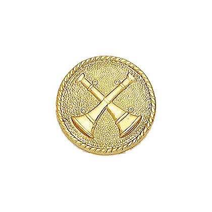 Smith & Warren Collar Insignia, 2 Crossed Bugles