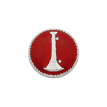 Smith & Warren Collar Insignia, 1 Bugle w/Red Enamel