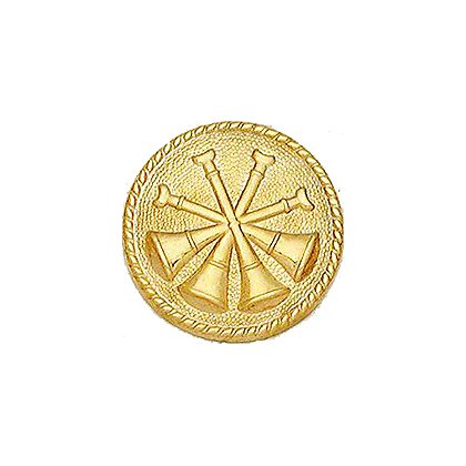Smith & Warren Deputy Chief Collar Insignia, 4 Crossed Bugles
