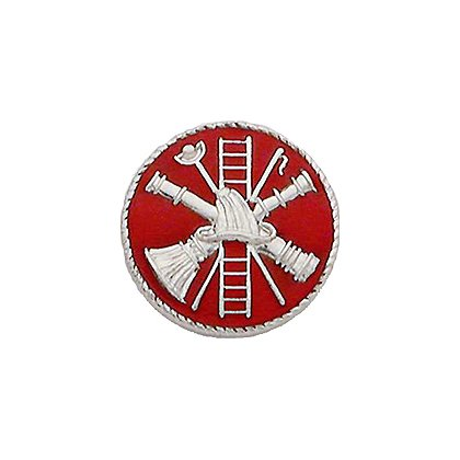 Smith & Warren Collar Insignia, Firefighter Scramble w/Red Enamel