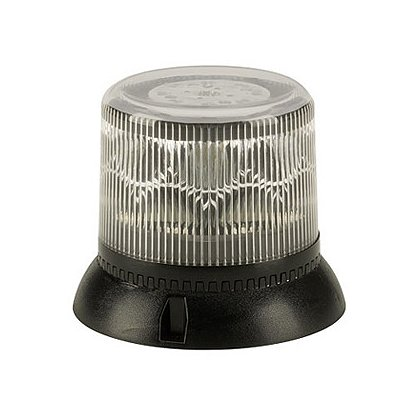 Code 3 LSS222 Beacon Strobe Light with 39 Flash Patterns, Suction/Magnetic Base, Clear Lens