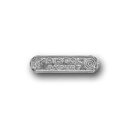 Smith & Warren Pistol Expert Award Insignia, Rhodium