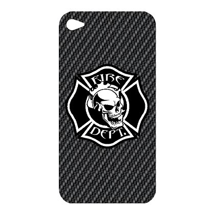 TheFireStore Exclusive Black Maltese Cross w/ Skull iPhone 4 Decal