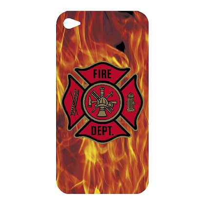 Exclusive Red Maltese Cross & Flame Background iPhone 4 Decal